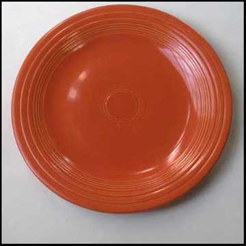 The former owner of this plate died from cancer. She was quite elderly at the time of death. It is hard to know whether eating from these plates or having ... & Orange Radioactive Dinner Plate