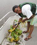 Latoyia Gilbert in boat