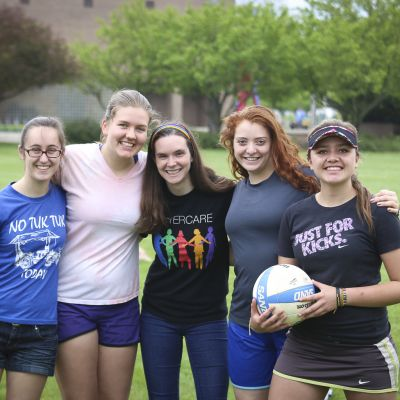 May term barbecue and volleyball tournament