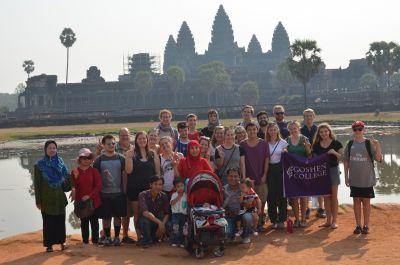 Obligatory group photo at Angkor Wat.