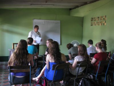 Spanish classes and Nicaraguan history