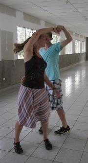 Brad and Kara mastering a spin