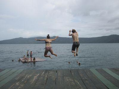 One last plunge into Laguna de Apoyo