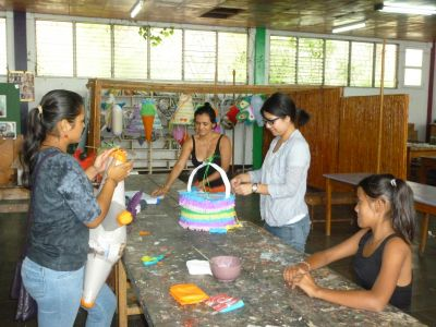 Today is piñata-making day for Drea
