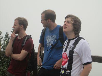 Ben, Wade, and Aaron feeling the breeze