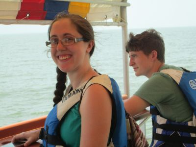 Emily S. and Natalie on Lake Managua
