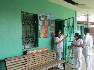Some nursing staff of a public healthcare clinic in La Concha.