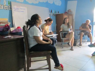 Social workers from speak to our group about their work with impoverished children and youth