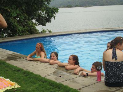 Poolside conversation...