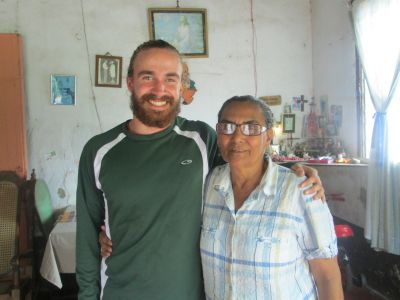 Isaiah with his Masatepe host mother