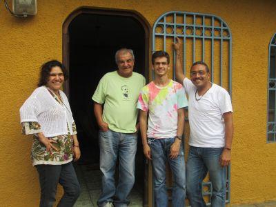Luke with his Masatepe host family