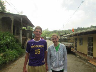 David & Emily in Santo Domingo, Nicaragua.