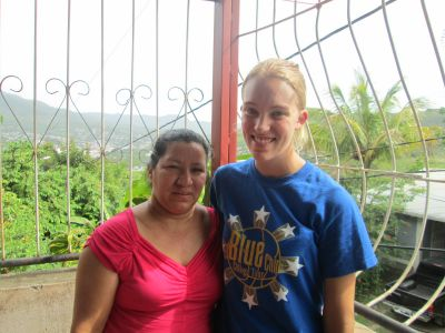 Sophie with her host mom, Karla, who also serves as the director of Escuela-La Amistad.