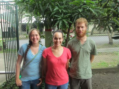 Emily, Molly & Ben after lunch together in Jinotega