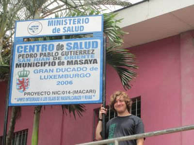 Aaron spends his mornings working at the local Centre de Salud.