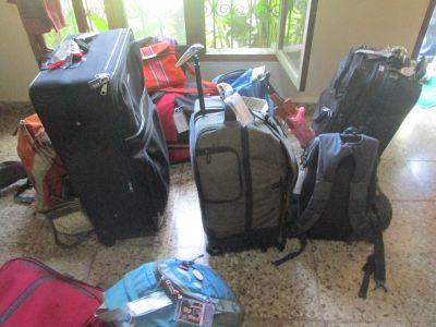 Preparing to leave Casa Goshen for retreat