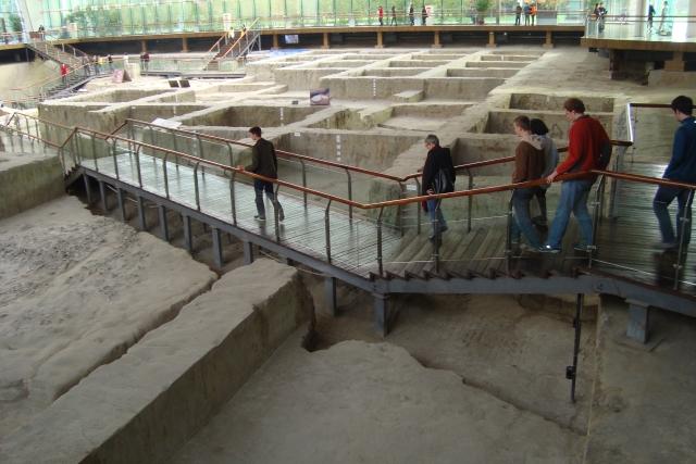 A Jinsha archeology site in Chengdu.