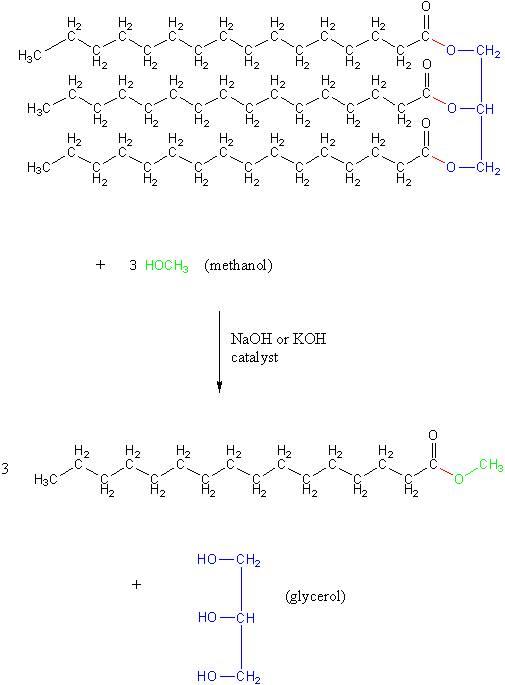 The Chemistry Of Biodiesel Biodiesel Project Goshen College
