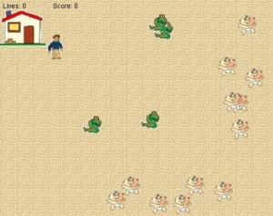Start of snake game