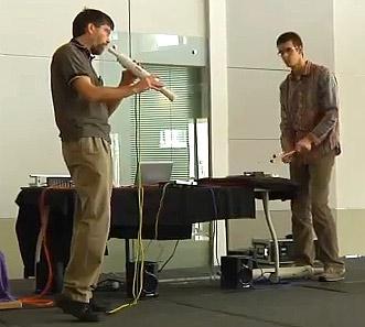 Buschert and Miller play Musician Maker