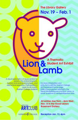 Lion and Lamb student exhibit poster