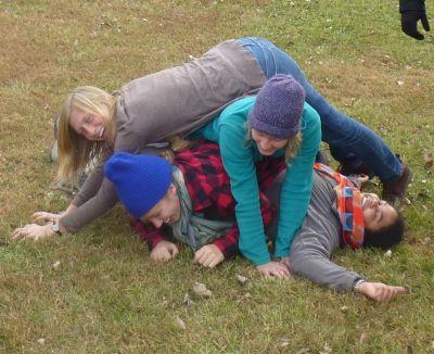 Fun Fridays hike - human pile
