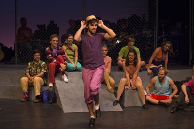 Godspell production at Goshen College