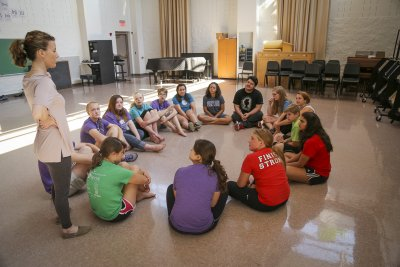 Music theater camp class