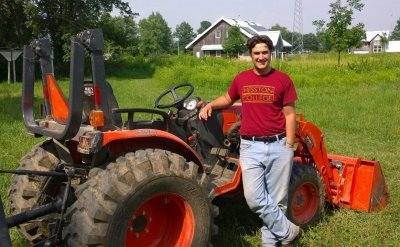 Ryan Miller with tractor