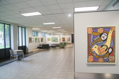 Artwork on display at the Union Building Hunsberger Commons