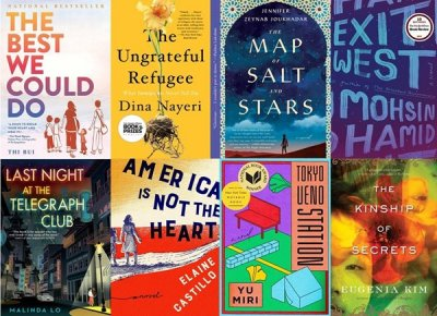 Book Cover Collage, Left to Right (top row)