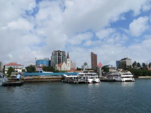 Dar es Salaam skyline from the harbor