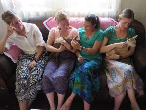We enjoyed cuddling the baby goats at Kelsey's house.