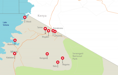 Map of the Mara region