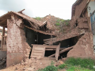 This adobe home was destroyed in the flooding of 2010