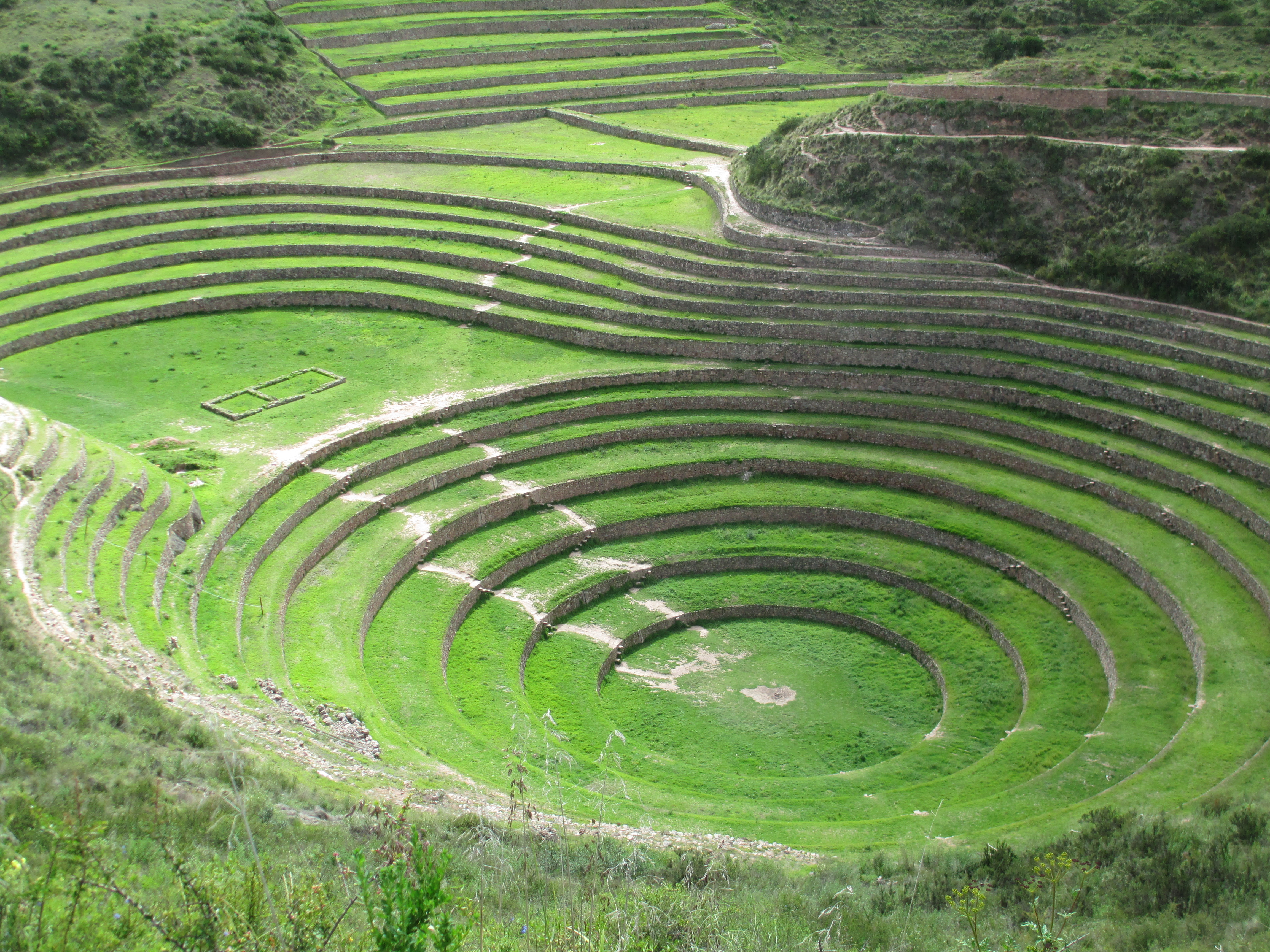 These concentric terraces are unique each terrace for What is terracing