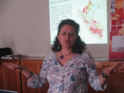 Jenny Menacho represents the recently-established Ministry of Development and Social Inclusion