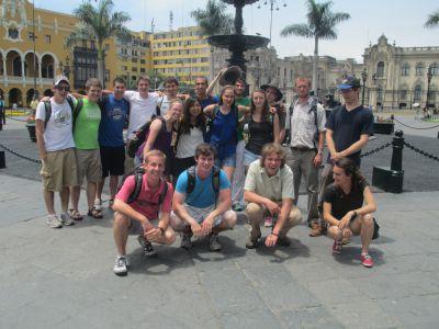 Gathered on the Plaza de Armas