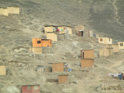 A closer look at the newly-build houses at Lima's edge