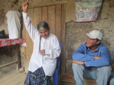 Abuela (grandma) points to heaven