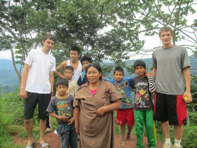 With Ana, one of the community leaders, and friends