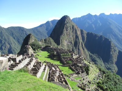 First sighting of Machu Picchu -- Old Peak in Quechua