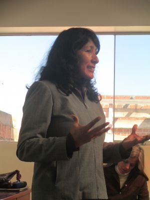 Professor Allende describes the impacts of a changing climate in the Cusco region