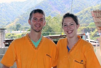 Alan and Becca on the roof of Clinica Elera.