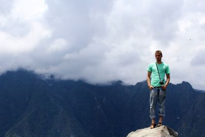 Alan at the summit of Wayna Picchu.