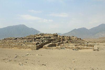 A pyramid at Caral.