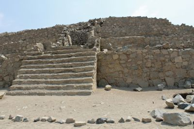 Another pyramid at Caral.