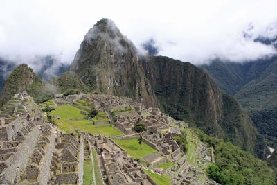 Machu Picchu, one of the seven wonders of the modern world and the most celebrated Inca achievement.