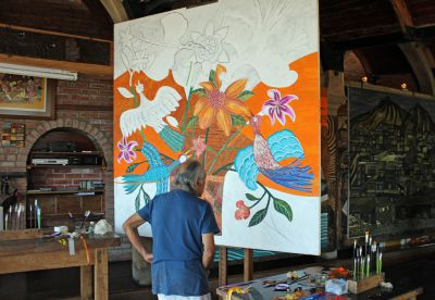 Inside the Artist's Studio: A Visit with Victor Delfin