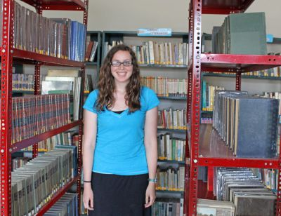April has provided volunteer service in the Chancay library.